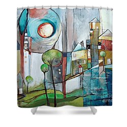 Sea Town Shower Curtain
