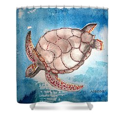 Sea Turtle Shower Curtain