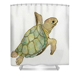 Sea Turtle Shower Curtain by Annemeet Hasidi- van der Leij