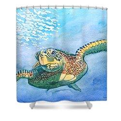 Sea Turtle Series #2 Shower Curtain