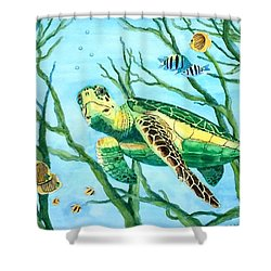 Sea Turtle Series #3 Shower Curtain