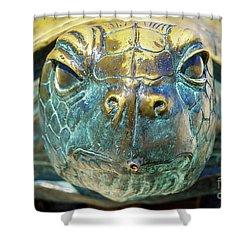 Sea Turtle Statue Gulf Shores Al 1590a Shower Curtain