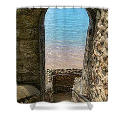 Shower Curtain featuring the photograph Sea View Arch by Scott Carruthers