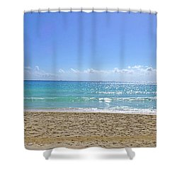 Shower Curtain featuring the photograph Sea View M2 by Francesca Mackenney