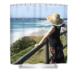 Sea Watch Shower Curtain by Dennis Cox WorldViews