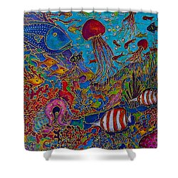 Sea World Shower Curtain by Rae Chichilnitsky