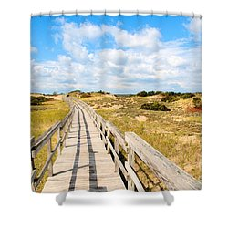 Seabound Boardwalk Shower Curtain