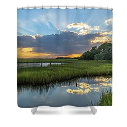 Seabrook Island Sunrays Shower Curtain
