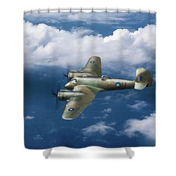 Shower Curtain featuring the photograph Seac Beaufighter by Gary Eason