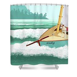Seadog Shower Curtain