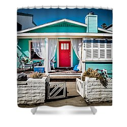 Shower Curtain featuring the photograph Seafoam Shanty by T Brian Jones
