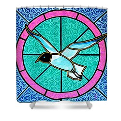 Shower Curtain featuring the painting Seagull 4 by Jim Harris