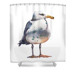 Seagull Print Shower Curtain
