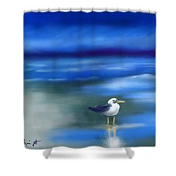 Seagull Standing 2 Shower Curtain by Frank Bright