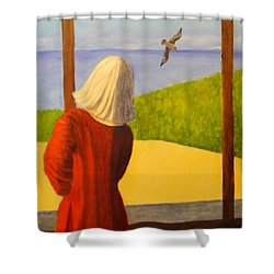 Seagulls - Bookcover Shower Curtain