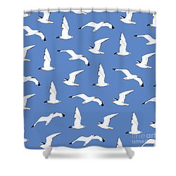 Seagulls Gathering At The Cricket Shower Curtain