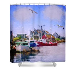 Seagulls Of Peggys Cove Shower Curtain