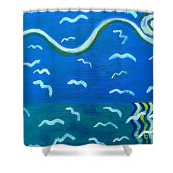 Seagulls Shower Curtain by Patrick J Murphy