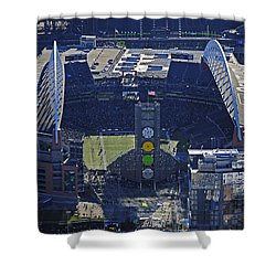 Seahawk Stadium Shower Curtain