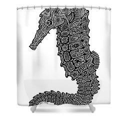 Seahorse Shower Curtain by Carol Lynne