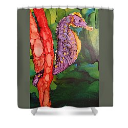 Seahorse Fantasy Shower Curtain