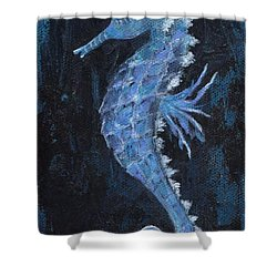Shower Curtain featuring the painting Seahorse by Jamie Frier