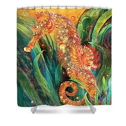 Seahorse - Spirit Of Contentment Shower Curtain by Carol Cavalaris