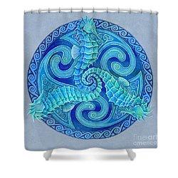 Seahorse Triskele Shower Curtain