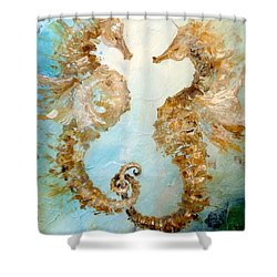 Seahorses In Love 2016 Shower Curtain by Dina Dargo