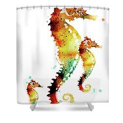 Seahorses Shower Curtain