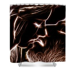 Shower Curtain featuring the digital art Sealed With A Kiss by Stephen Younts