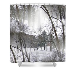 Seamless Home On The Hill Shower Curtain