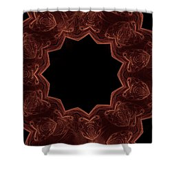Seamless Kaleidoscope Copper Shower Curtain