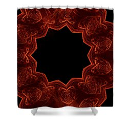 Seamless Kaleidoscope Copper Saturated Shower Curtain