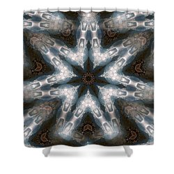 Seamless Mountain Star Shower Curtain
