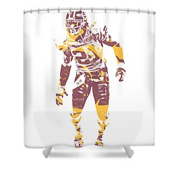 Sean Taylor Washington Redskins Water Color Art 1 Shower Curtain