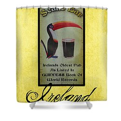 Seans Bar Guinness Pub Sign Athlone Ireland Shower Curtain by Teresa Mucha