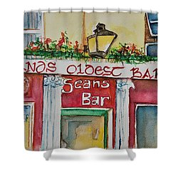 Seans Irish Pub Shower Curtain