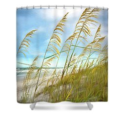 Seaoats Fantasy Shower Curtain by Linda Olsen