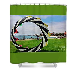 Shower Curtain featuring the photograph Seaport Villagethrough My Lens by Jasna Gopic