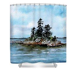 Seascape Casco Bay Maine Shower Curtain