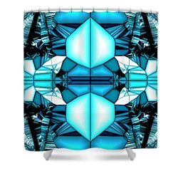 Seascape In Jazzy Time Shower Curtain