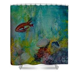 Seascape Shower Curtain by Karen Fleschler