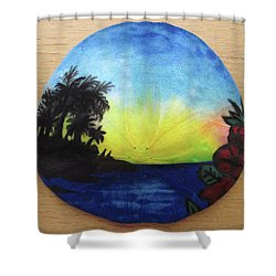 Seascape On A Sand Dollar Shower Curtain