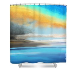 Seascape Painting Shower Curtain