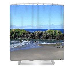 Seascape Supreme Shower Curtain by Will Borden