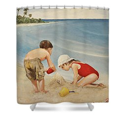Seashell Sand And A Solo Cup Shower Curtain