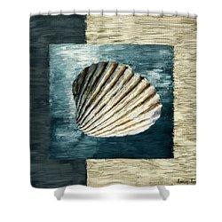Seashell Souvenir Shower Curtain by Lourry Legarde