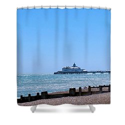 Seaside And Pier Shower Curtain
