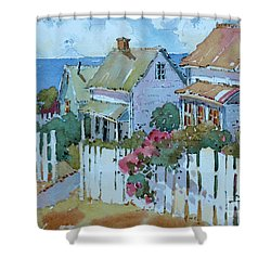 Seaside Cottages Shower Curtain